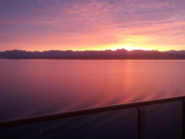 54637Sunrise in Glacier Bay National Park